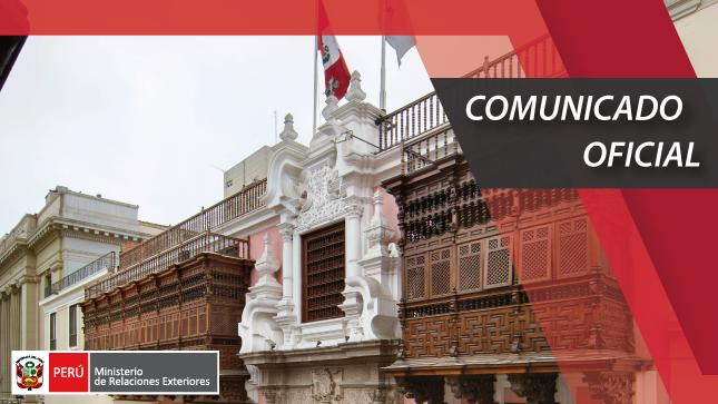 El Gobierno del Perú expresa su profunda preocupación por los recientes acontecimientos ocurridos en la República de la Unión de Myanmar