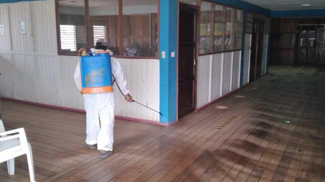 #Purús | Palacio municipal fumigado y desinfectado