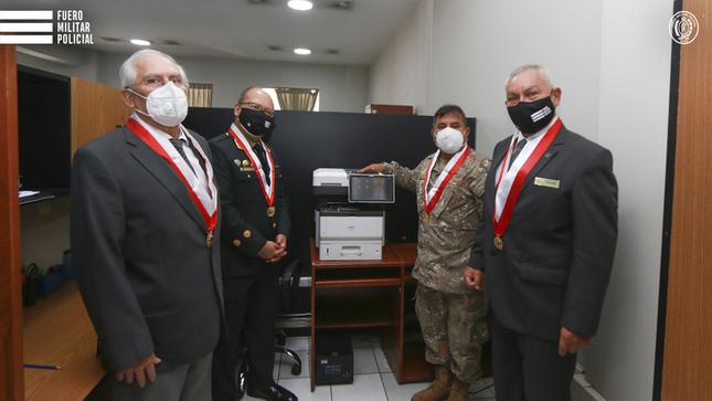 Nuevos equipos permitirán impulsar la digitalización en el Fuero Militar Policial