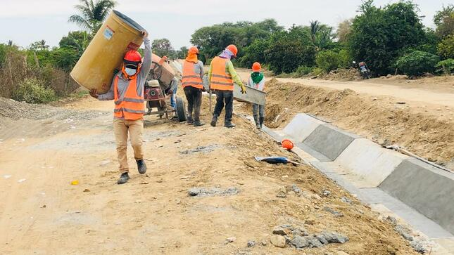 Piura: Equipo técnico del MIDAGRI - PSI realizó la verificación del avance de ejecución de obra.