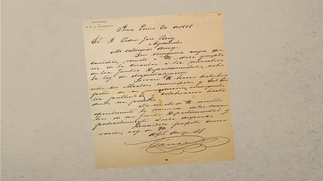 Archivo General de la Nación saluda donación sobre cartas del General Andrés Avelino Cáceres