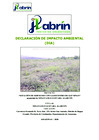 Vista preliminar de documento Declaración de Impacto Ambiental (DIA)