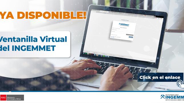 Ingemmet anuncia atención al público con ventanilla virtual