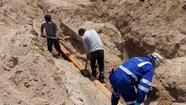 Osinergmin supervisa trabajos de reposición del suministro de gas natural en La Tinguiña y Parcona, en Ica