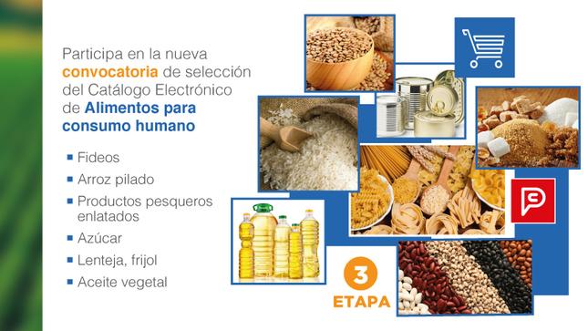 Se inició tercera etapa de selección de proveedores del Catálogo Electrónico de alimentos para consumo humano