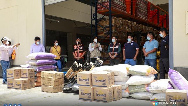 Huánuco: ENTREGAN AYUDA HUMANITARIA A DAMNIFICADOS POR LLUVIAS INTENSAS