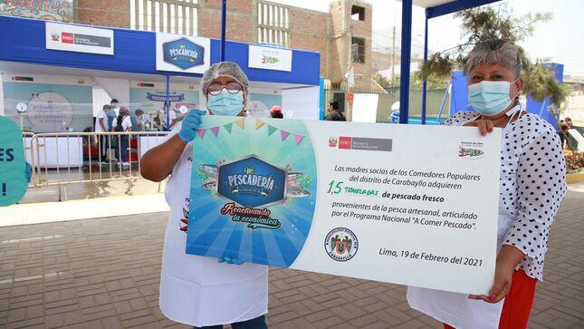 Produce promocionó más de 3.5 toneladas de pescado fresco en Carabayllo