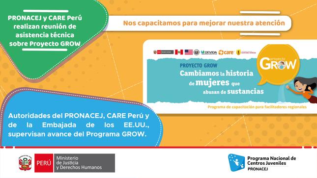 Representantes del PRONACEJ Y CARE Perú sostienen reunión de asistencia técnica sobre Programa GROW