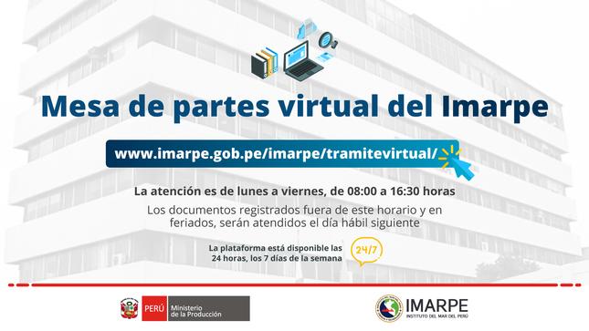 Mesa de partes virtual del Imarpe