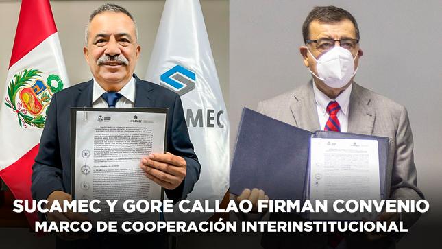 Sucamec firma convenio marco con el Gobierno Regional del Callao