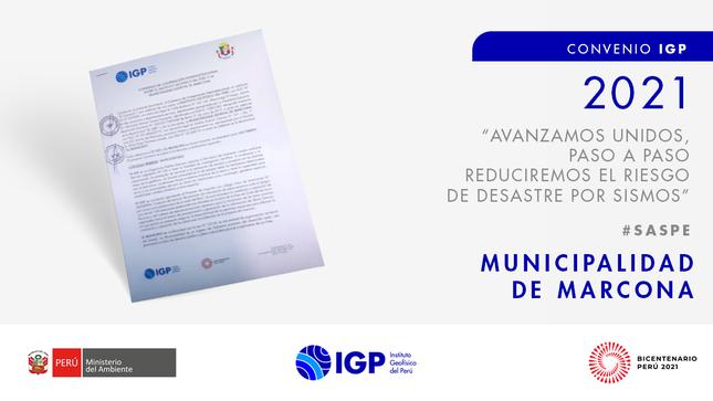 IGP firma convenio con Marcona para instalar estación sísmica SASPe