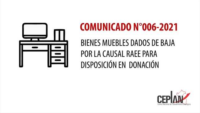Comunicado 006-2021/CEPLAN