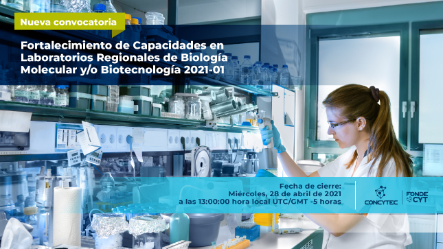Concytec lanza concurso para promover el fortalecimiento y modernización de laboratorios regionales