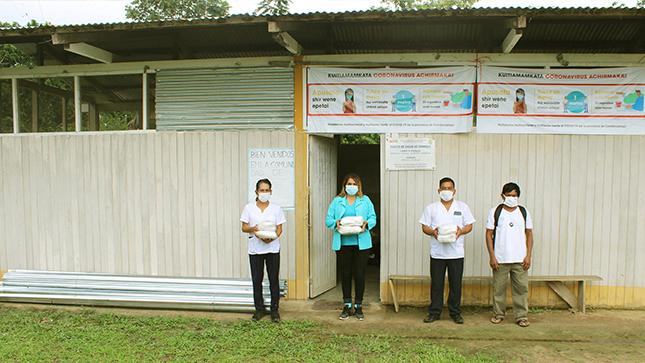 Destinan calaminas para el puesto de salud de la comunidad Chorros