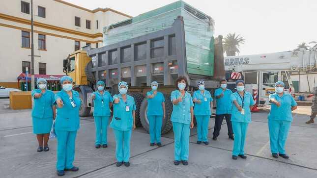 Hospital Loayza recibe planta generadora de oxígeno para atención de pacientes COVID-19