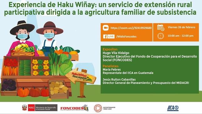 Desafío de programa Haku Wiñay/Noa Jayatai es convertirse en política pública articulada con enfoque territorial