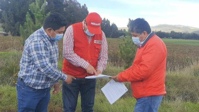 Ayacucho: Supervisan estado de cultivos de quinua y papa en el distrito de Chiara-Cangallo