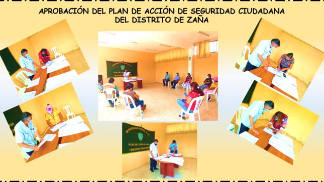 Aprobación del Plan de Acción de Seguridad Ciudadana del Distrito de Zaña