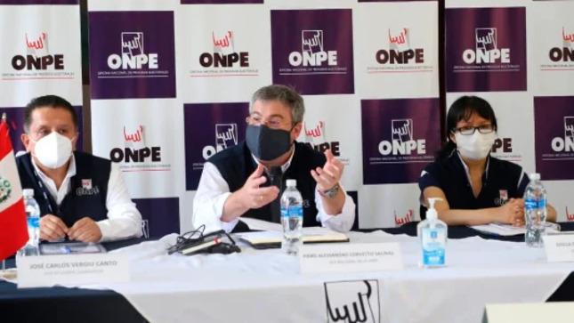Jefe de la ONPE coordina organización de elecciones generales en la región Lambayeque