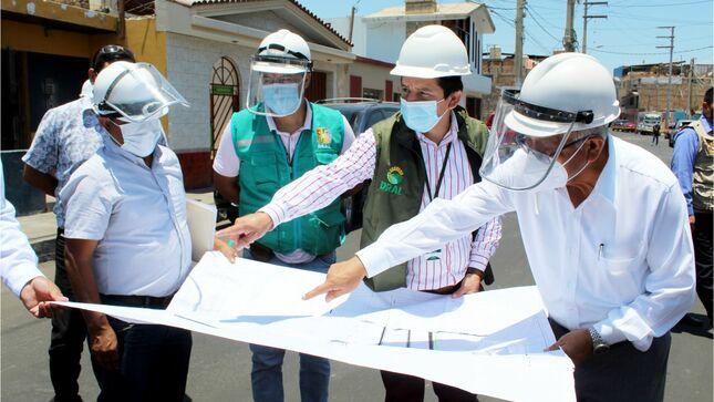 Culminan al 100% asfaltado de las urbanizaciones Huacho y san pedro en la provincia de Huaura