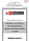 Vista preliminar de documento Política Nacional de Gestión del Riesgo de Desastres al 2050