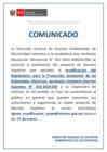 Vista preliminar de documento COMUNICADO modificación del Reglamento para la Protección Ambiental de las Acvidades Eléctricas, aprobado mediante Decreto Supremo N° 014-2019-Em
