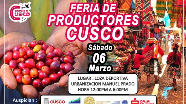Feria de productores locales Viernes 05 y Sábado 06 de marzo.