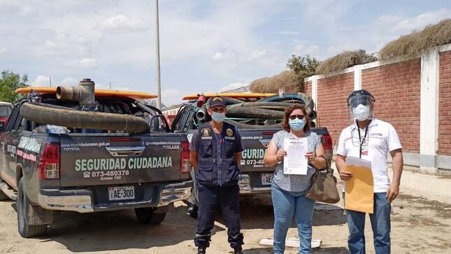 MVCS entrega 12 motobombas a municipalidades para atender las emergencias en Piura