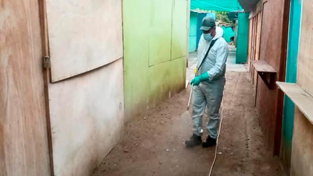 Municipalidad de Sayán Llevó Acabo la Desinfección en el Mercado Municipal