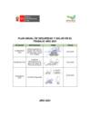Vista preliminar de documento Plan Anual de Seguridad y Salud en el Trabajo 2021