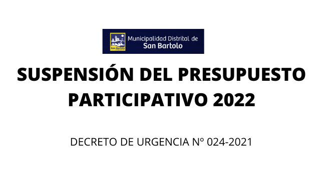 La MDSB comunica la suspensión del Proceso del Presupuesto Participativo 2022