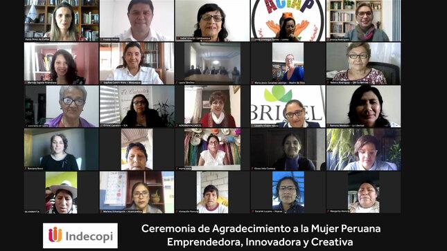 El Indecopi reconoce a 26 mujeres de las diferentes regiones por su emprendimiento, creatividad e  innovación