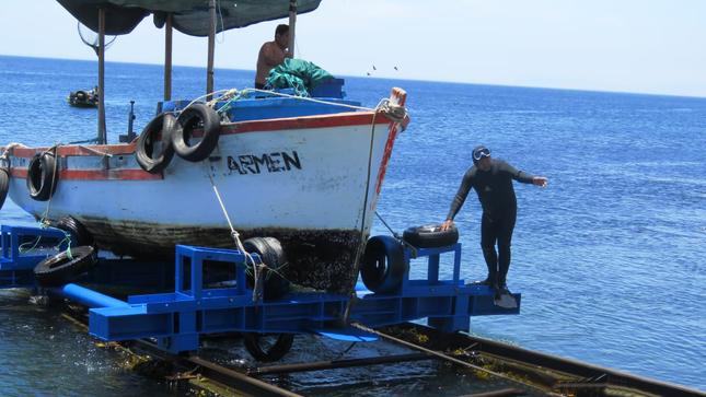 Inicio de operaciones de deslizadero de playa Corralitos de ILO