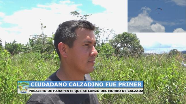 Morro de Calzada, lugar estratégico para deporte de aventura en parapentismo.