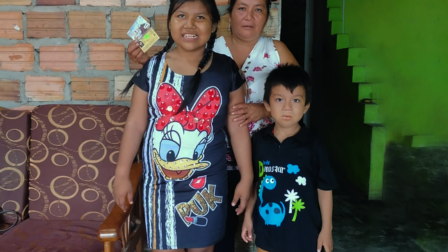 2300 personas de comunidades amazónicas y con discapacidad reciben pensión bimestral de 300 soles del Programa CONTIGO