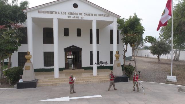El IGN realizó trabajos de levantamiento topográfico en apoyo al Museo del Ejército Contemporáneo Chavín de Huantar