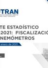 Vista preliminar de documento Reporte Estadístico N° 004-2021: Fiscalización con Cinemómetros