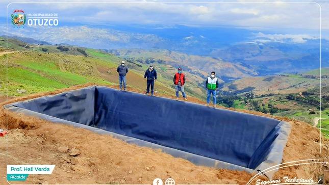 Continuando con la Instalación de Reservorios de Geomembranas en los Caseríos de Otuzco