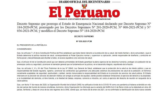 Actualización de restricciónes de ingreso al Perú