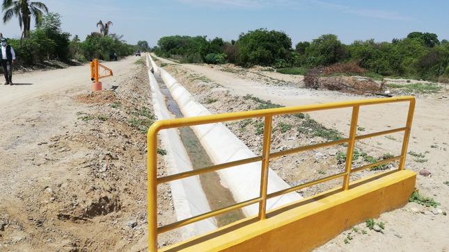 Piura: Recepción y transferencia de la obra de rehabilitación del servicio de agua del canal Sublateral 10+000