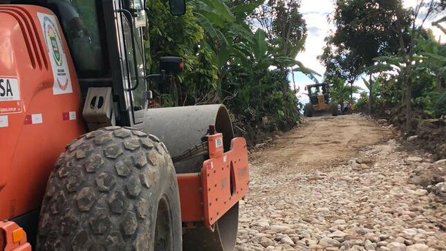 Culminaron los trabajos de mejoramiento de la vía Ñunya Jalca - San Martín - Lonya Grande
