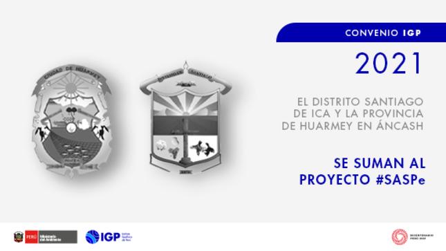 El distrito Santiago en Ica y la provincia Huarmey en Áncash  se suman al proyecto SASPe