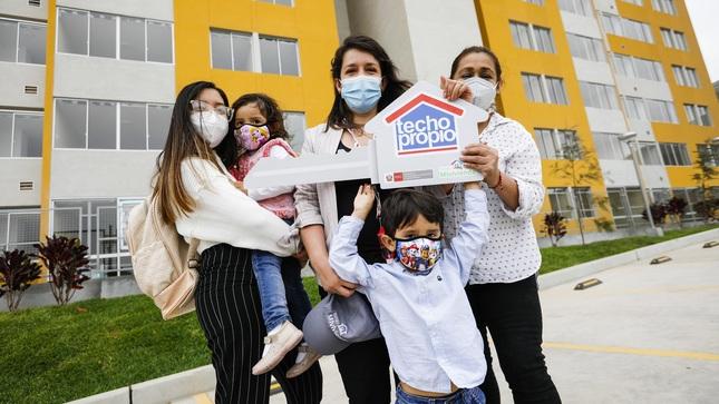 Bonos de Techo Propio alcanzan récord histórico en primer trimestre del año con casi 15 mil familias beneficiadas