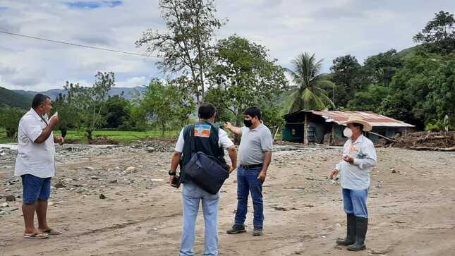 El MIDAGRI a través del PEJSIB evalúan daños ocasionados a las áreas agrícolas a consecuencia de las fuertes lluvias