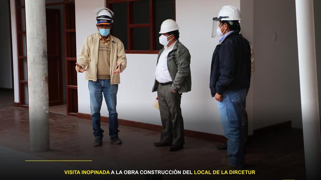 """Visita inopinada a la obra """"Construcción del Local de la DIRCETUR"""""""