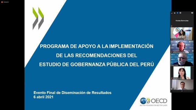Perú implementó recomendaciones de la OCDE en temas de gobernanza pública