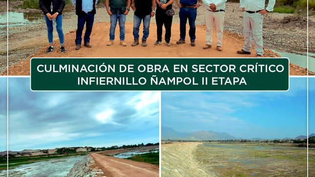 Se culminaron los trabajos en el Sector Crítico Infiernillo Ñampol II Etapa