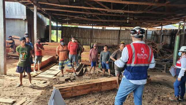 SUNAFIL paralizó labores en aserradero de Mazán por exponer a peligro inminente a 21 trabajadores