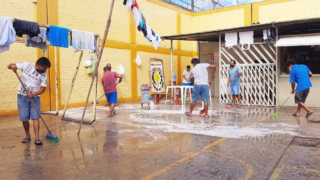 Penal Bagua Grande realiza actividades sanitarias para evitar contagio de nuevas cepas de la COVID-19