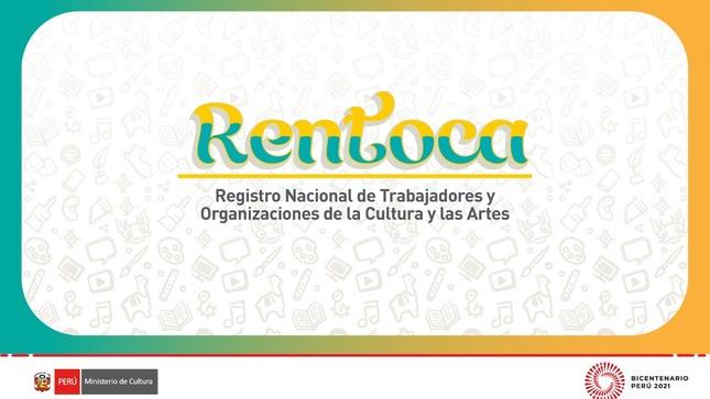 Ministerio de Cultura crea el Registro Nacional de Trabajadores y Organizaciones de la Cultura y las Artes – RENTOCA